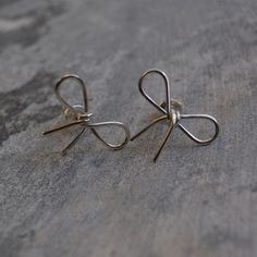Silver Bow Studs on Fab.