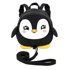 Sumnacon Baby Toddler Kids Walking Safety Mini Backpack Harness Reins - Cartoon Animal Bag Backpack Harness with Adjustable Strap, Penguin Anti-lost Backpack for Baby Years Old (Black) Rucksack Backpack, Mini Backpack, Baby Harness, Animal Bag, Girls Summer Outfits, Baby Safe, Kids Bags, Kids Backpacks, Child Safety