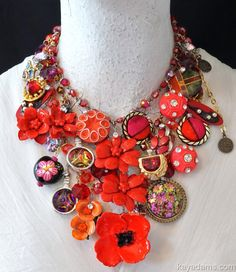 L6810 - $625.00 : Kay Adams, Anthill Antiques, Jewelry and Chandelier Heaven. Red Poppy Fields Forever. Wildflower Dreams.  Tap your inner poppies-power wild child -- and when in doubt, WEAR RED! :D #gottgettakay
