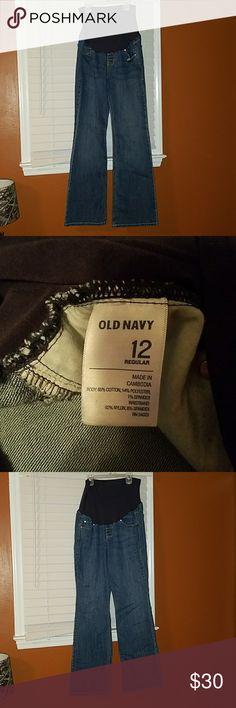 Old Navy Maternity Jeans Old Navy Maternity Jeans. Flare. One size 12 full panel. One size 14 full panel. One size 14 with short panel. Old Navy Jeans Flare & Wide Leg