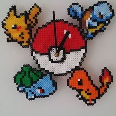 Pokemon clock perler beads by erlandsson86