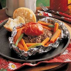Meal in a Packet Recipe -I came across this in my grandmother's recipe collection a few years back. It's easy to suit different people's tastes. --Jody Summersett, New Haven, Indiana