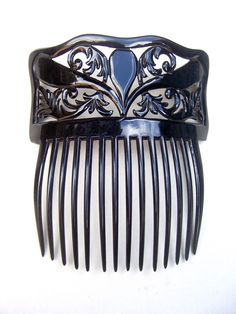 A large and handsome Spanish mantilla style hair comb from the late Victorian period. Possibly worn for mourning,