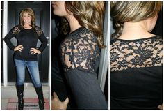 Late Night Lace Top in Black