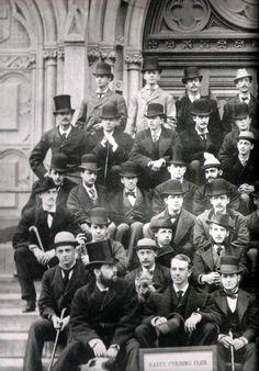 The Hasty Pudding Club, circa 1875.