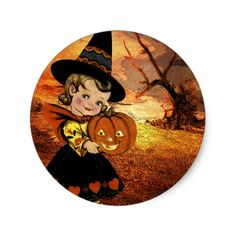 HAPPY HALLOWEEN CLASSIC ROUND STICKER #halloween #holiday #creepyhollow #stickers