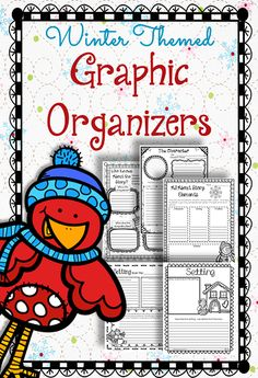Winter themed graphic organizers.  Perfect for any winter themed book or just for fun during January!  Common Core aligned for Reading Literature grades 3-5.  $