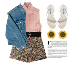 """""""Lost in sunflower field"""" by beanybabie ❤ liked on Polyvore featuring Diesel Black Gold, Chicnova Fashion, Vero Moda, Balenciaga and Steve Madden"""