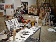 Das Atelier von Cecily Brown in New York, 2012