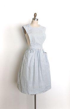 vintage 1950s jumper dress 50s striped pinafore dress