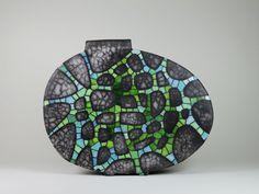 Grünes Netz | Keramikobjekt | Uta Naue-Müller
