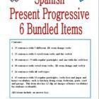 Spanish Present Progressive Bundle - 6 Practice Worksheets...... Kaitlyn potter and Sandra Camden