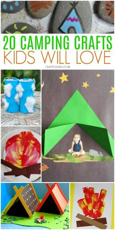 Easy camping crafts and activities for kids to make #summercrafts #kidscrafts #kidsactivities Camping Crafts For Kids, Summer Crafts For Kids, Activities For Kids, Big Kids, Preschool, Kids Rugs, Craft Ideas, Easy, Toys