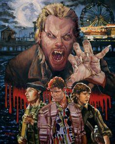 Horror Movie Art : The Lost Boys by Chris Kuchta Comic Movies, Scary Movies, Great Movies, 80s Movies, The Lost Boys 1987, Real Vampires, Vampire Love, Horror Artwork, Creepy Clown