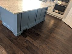 Kitchen island refinished in Behr Charcoal Blue by Chameleon Painting SLC, UT. Blue Kitchen Cabinets, Laundry Room Cabinets, Kitchen Paint, Kitchen Redo, Kitchen Design, Kitchen Ideas, Kitchen Island, Remodeling Mobile Homes, Home Remodeling