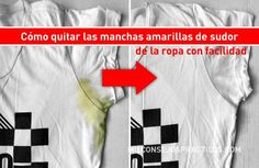 Cómo quitar las manchas amarillas de sudor de la ropa con facilidad Quites, Need To Know, Cleaning, Forests, Laundry Room, Remove Deodorant Stains, Remove Yellow Stains, Whitening Clothes