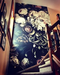 """12 Likes, 2 Comments - 78 and Sunny Wallpapering (@78andsunnywallpapering) on Instagram: """"Ellie Ashman - dark floral wallpaper #elliecashmandesign #darkfloralwallpaper"""""""