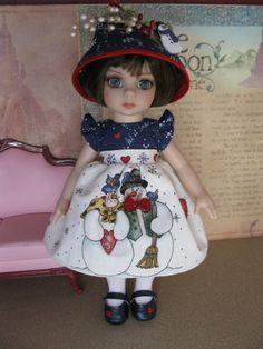 "NEW 5 pc outfit fashion w/shoes Patsy Ann Estelle 10"" doll Mr. & Mrs. Snowmen"