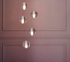 Bocci 14.5 Five Glass Pendant Light Clear | Chandeliers | Pendants & Chandeliers | Lighting | Heal's