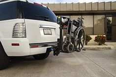 harmar mobility al030 wheelchair lift outside power carrier with ii/iii  hitch adapter & wiring harness & swing-away arm