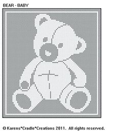Filet Crochet Baby Blankets Pattern Bear More Blanket Patterns