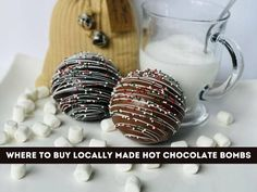 Hot Chocolate Bombs: 11 Places You Can Buy This Locally Made Treat - grkids.com Chocolate Shells, Hot Chocolate Mix, White Chocolate, Bomb Making, Milk Alternatives, Christmas Mom, Dairy Free Recipes, Free Food, Peppermint
