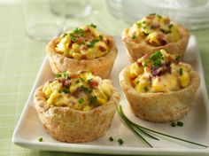 If an egg bake just won't do for your hungry brunch bunch, whip up these individual biscuit cups made right in your muffin tin. The cups can be made a day in advance (just store at room temp in an airtight container) and filled with the scramble right before you serve.
