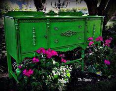 Annie Sloan Antibes Green with Dark Wax