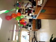 Dr. Everett's Hospital reception area birthday decorations in Everett Veterinary Hospital and Boarding House #Sheree Everett #Everett Veterinary #Klamath Falls