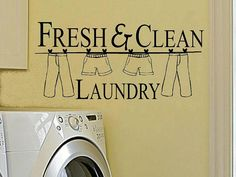 vinyl wall decal quote Fresh and clean by WallDecalsAndQuotes, $8.95