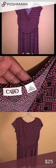New Cato dress!! Sexy Cato dress never worn. Very flowy dress with a cinched waistline. Cato Dresses Midi