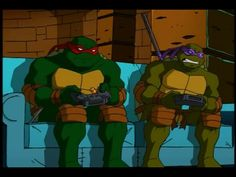 hehe...Donnie looks so angry! That should be Raph's expression!