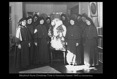Maryknoll Nuns Christmas Time in Honolulu Hawaii 1940 Honolulu Hawaii, Christmas Time, Catholic, Sisters, Life, Happy, Happiness, Sister Quotes, Roman Catholic
