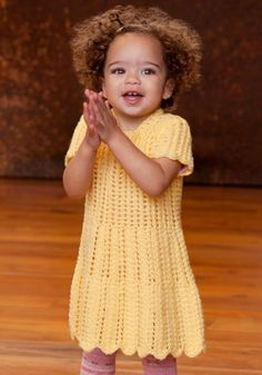 download a FREE pattern every day. ~ Toddlers Dress |  Crochet Stash .Tumblr .Com