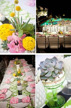 So on trend! Succulents for Wedding bouquets and decor. Tres chic! StyleBlueprint Weddings