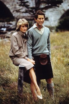 PRINCESS DIANA ~ love these pics of her on their honeymoon in Scotland