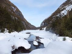 """Avalanche Lake in Winter, from the article, """"Hiking the Adirondack Winter 46: A Backpacking Adventure on Cliff and Colden Mountains"""""""