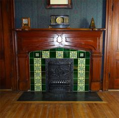 Reproduction tiles give just the right feel when making over an old Victorian fireplace