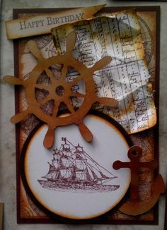STAMPIN UP NAUTICAL CARD by Brenda Human.