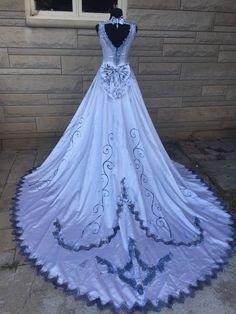 Corpse Bride Emily Halloween Costume Wedding Dress Veil OOAK Cosplay ...
