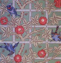 'Trellis' wallpaper design by William Morris, produced by Morris, Marshall, Faulkner & Co in 1864