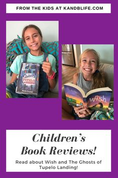 Read about Wish written by Barbara O'Connor, reviewed by 9 year old Brecken. The Ghosts of Tupelo Landing by Sheila Turnage is reviewed by 11 year old Kinley.  Hope you find it helpful! Love Book, This Book, Book Reviews For Kids, Singing In The Rain, Happy Reading, Great Stories, My Favorite Part, Ghosts, Landing