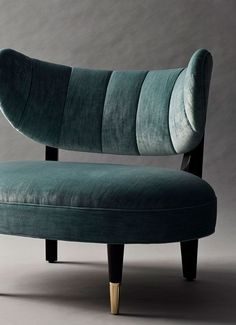 Rue side chair with green velvet upholstery /