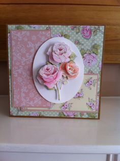 Handmade floral card using Dovecraft Cupcake Boutique Collection Cupcakes, Cupcake Boutique, Craftwork Cards, Marianne Design, Scrapbook Supplies, Decoupage, Paper Crafts, Valentines, Crafty