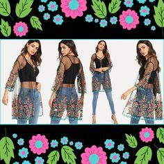 356e6e288 Mesh T Shirt, Fashion Designer, Floral Fashion, T Shirts, Kimono Top,