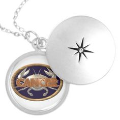 Astrology Zodiac cancer crab sterling silver necklace