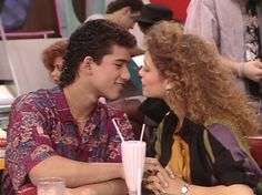 """Slater & Jessie from """"SAVED BY THE BELL."""""""