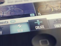 #mobile #UI #iphone #multitasking bar #design within #app by Vadim Sherbakov on dribbble.