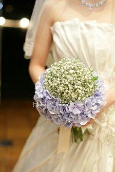 かすみ草&紫陽花のブーケ♩