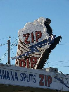 Zip Dip neon sign.